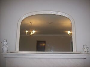 Cream Extra Large Arched Overmantle Mirror - RRP £229