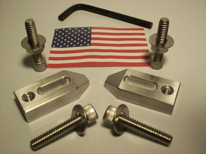 ALUMINUM CLAMP SET FOR MACHINIST TOOL ROOM OR HOBBY. SET OF TWO WITH HARDWARE