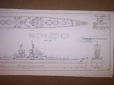 USS WORCESTER ship plans