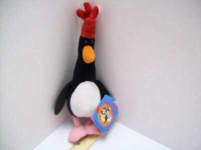 RARE 1989 Feathers McGraw with Tag Plush Stuffed WALLACE & GROMIT 11""