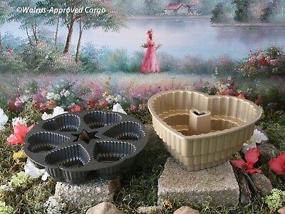 WILLIAMS-SONOMA NORDIC WARE HEART BUNDT PAN + CRATE & BARREL HEARTS CAKE (Heart Bundt Cake Pan)