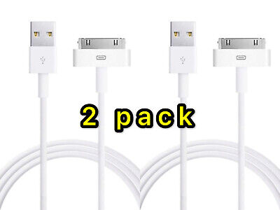 2X Sync Data Charging Charger USB Cable Cord fit iPhone 4 4S iPod Touch 4th Gen
