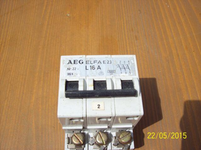 3x Sicherungsautomat 3 Phasen AEG L 16A      3 Stück