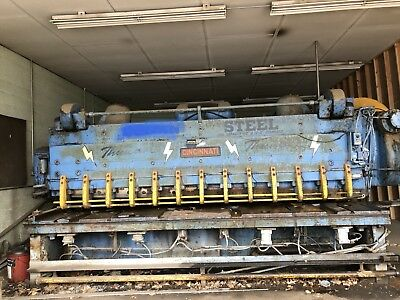 Cincinnati 34 X 12 Mechanical Metal Plate Shear Free Freight Win 1200 Mile