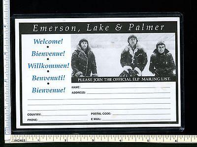 EMERSON LAKE & PALMER ELP 1990s Ad Post Card for Fan Club; postcard; unused; EX