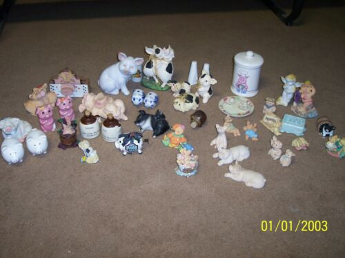 Pig Figurine Collectible LOT of 40
