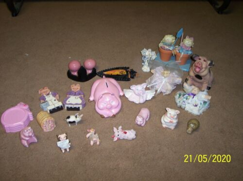 Pig Figurine Collectible LOT of 16
