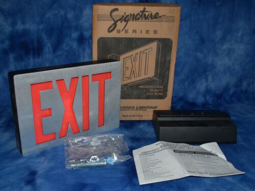 LITHONIA LIGHTING Cast Aluminum Emergency LED Exit Sign