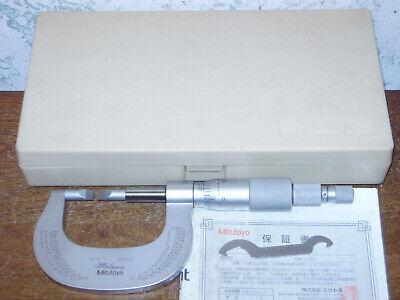 Mitutoyo 0-1 Blade Micrometer No 122-151 W Case - Thin Carbide Blades - Lot1b