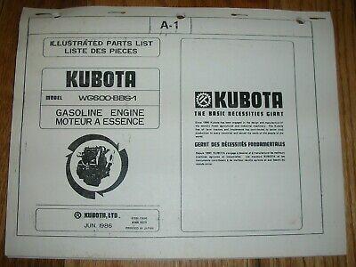 Kubota Wg600-bbs-1 Illustrated Parts List Manual 686 English French