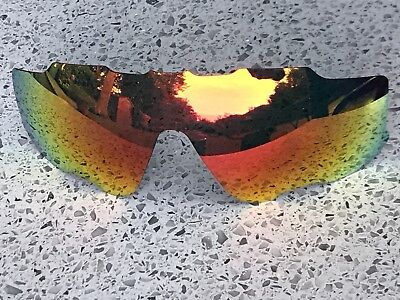 ETCHED POLARIZED FIRE RED MIRROR REPLACEMENT OAKLEY JAWBREAKER LENS & POUCH segunda mano  Embacar hacia Spain