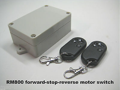MSD 12V 20A 2-pole reversible motor control switch with 2 remote key fobs RM800