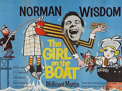 "Girl on the Boat Norman Wisdom 16"" x 12"" Reproduction Movie Poster Photograph"