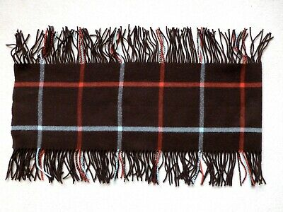 Johnstons of Elgin (Scotland) lambswool scarf with side fringe