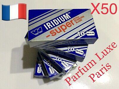 50X WIZAMET SUPER IRIDIUM The Best Razor Blade Double Edge DE Vintage Low