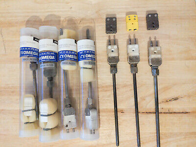 1x Used Omega Thermocouple Probe Cass-140u-4-uhx K Type Ceramic Stainless