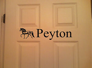 Horse & Personalized Name Wall Art Wall Decor Bedroom Door Sticker