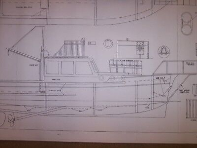 ORCA fishing boat from jaws movie model plan