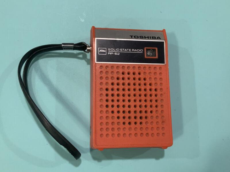 Toshiba Solid State Transistor Radio.Toshiba Model RP-62 Hand Held Radio Working