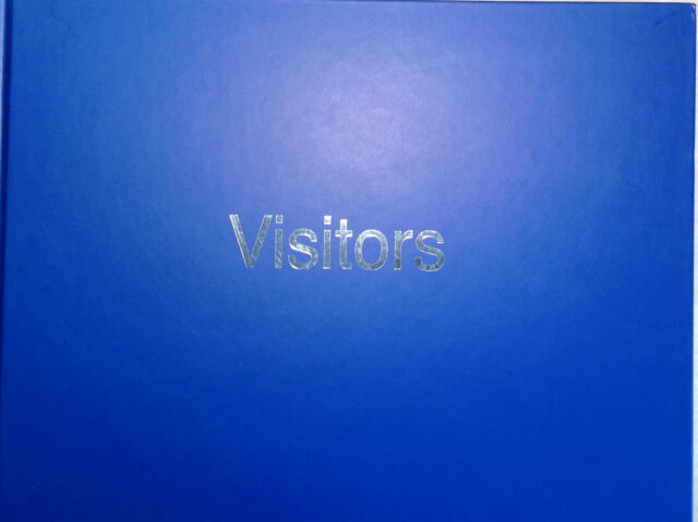 Visitors Book Blue Hardback Record Guest Comments Books by Esposti