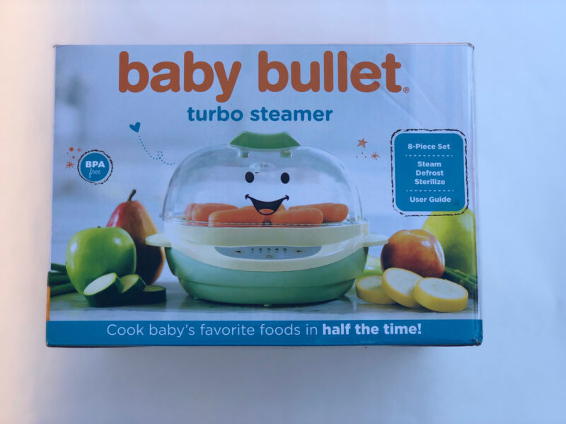 Magic Bullet Baby Bullet Turbo Food Steamer 8 Piece Set (NEW IN BOX)