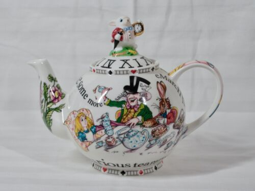 RARE! DISCONTINUED PAUL CARDEW LARGE CLASSIC ALICE IN WONDERLAND TEAPOT NEW