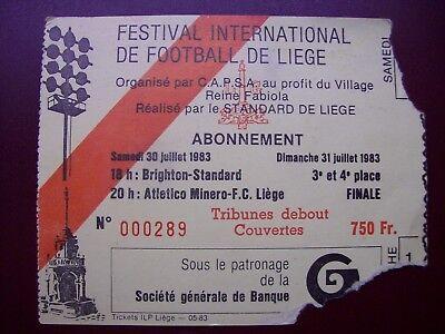 TICKET STANDARD Festival International foot 30 et 31/7/1983