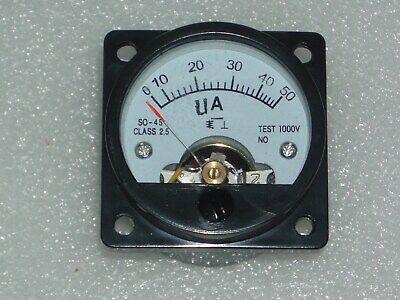 Analog Panel Meter Dc 0-50ua Ammeter