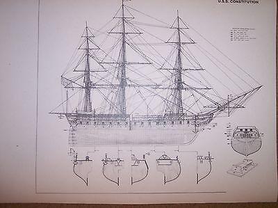 USS CONSTITUTION ship plans