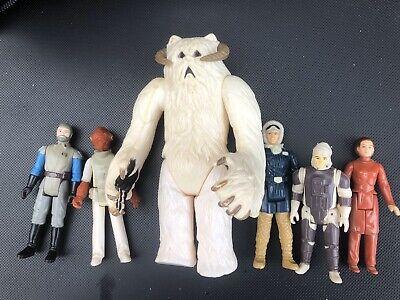 Vintage Star Wars Figure Bundle 5 + Hoth Wampa Empire jedi Lot
