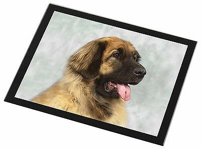 Blonde Leonberger Dog Black Rim Glass Placemat Animal Table Gift, AD-LE1GP