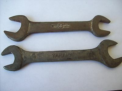 TW0 AN  ONE IS A YAMAHA MOTORCYCLE COMBINATION OPEN END WRENCH 14/17