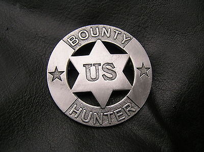OLD WEST - US BOUNTY HUNTER BADGE - TOP QUALITY - *NEW & UNIQUE*  Cowboy Marshal