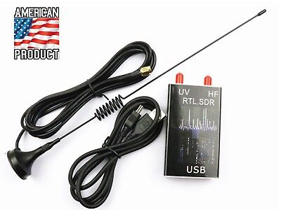 US Full Band UV HF For RTL.SDR USB Tuner Receiver R820T+8232 Radio