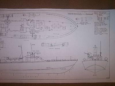 PT107  boat  model boat plans   elco
