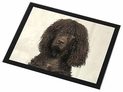 Irish Water Spaniel Dog Black Rim Glass Placemat Animal Table Gift, AD-IWSGP