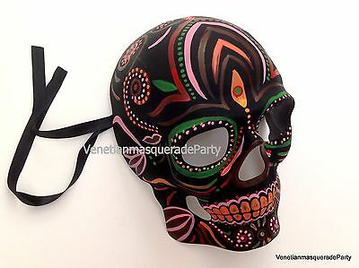 Unisex Day of the Dead Full Face Masquerade Dia de los Muertos Skull Devil Mask - Day Of Dead Masks
