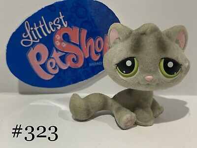 Authentic Littlest Pet Shop - Hasbro LPS - KITTEN CAT #323