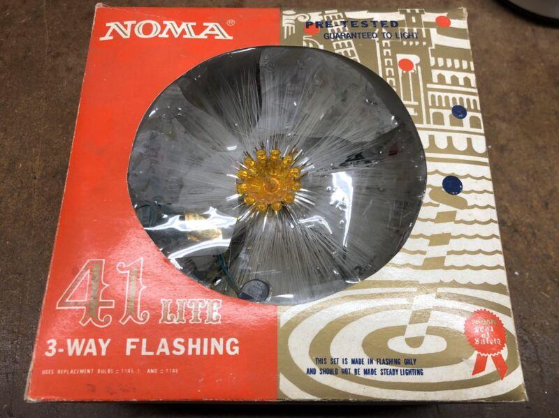 Vintage NOMA 41 Lite Rainbow Tree Top 3 Way Flashing w Box