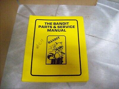 A Bandit Parts Service Manual - Model 150 200 Brush Chipper - New Condition