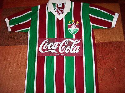1980's Fluminense Football Shirt Brazil Adults Large Camisa Top Jersey image