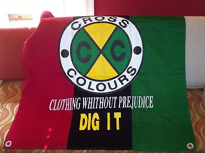 Vintage Cross Colours ADVERTISING WALL HANGING Hip Hop, better than jacket