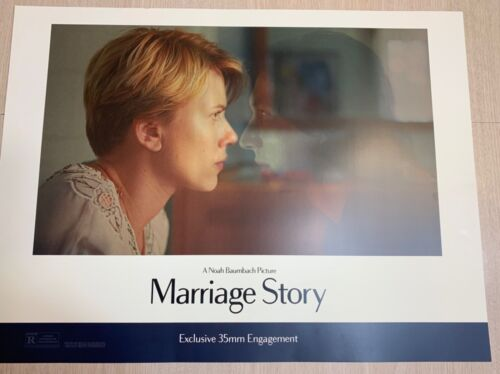 MARRIAGE STORY MOVIE POSTER  18x24 VERY THICK STRONG CARDBOARD PAPER SCARLET JOH