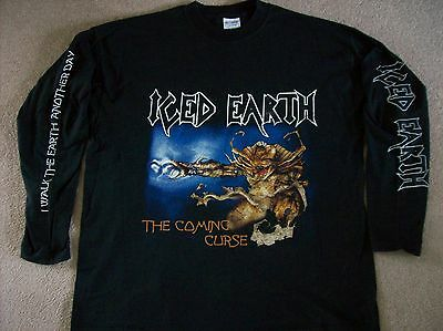 ICED EARTH - THE COMING CURSE LONG SLEEVE T SHIRT (X LARGE)