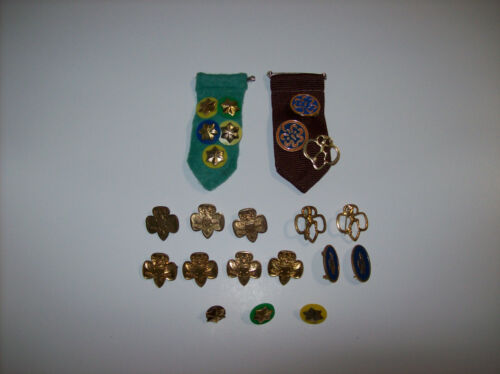 lot of Girl Scout / Brownie Awards and Pins
