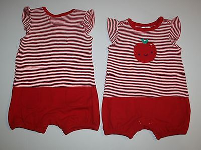 One Red Apple - New Gymboree Red Apple Stripe Summer One Piece Romper NWT 0-3m 3-6m 6-12m 12-18m