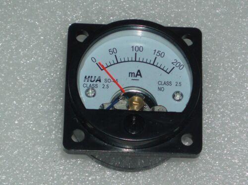 Analog Panel Meter DC 0-200mA AMMETER