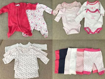 Baby Girl Clothes Bundle Newborn Size 0000 Baby Clothing