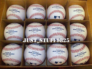 ONE (1) Dozen Rawlings Major League Baseball Ball Brand NEW MLB 12 ROMLB