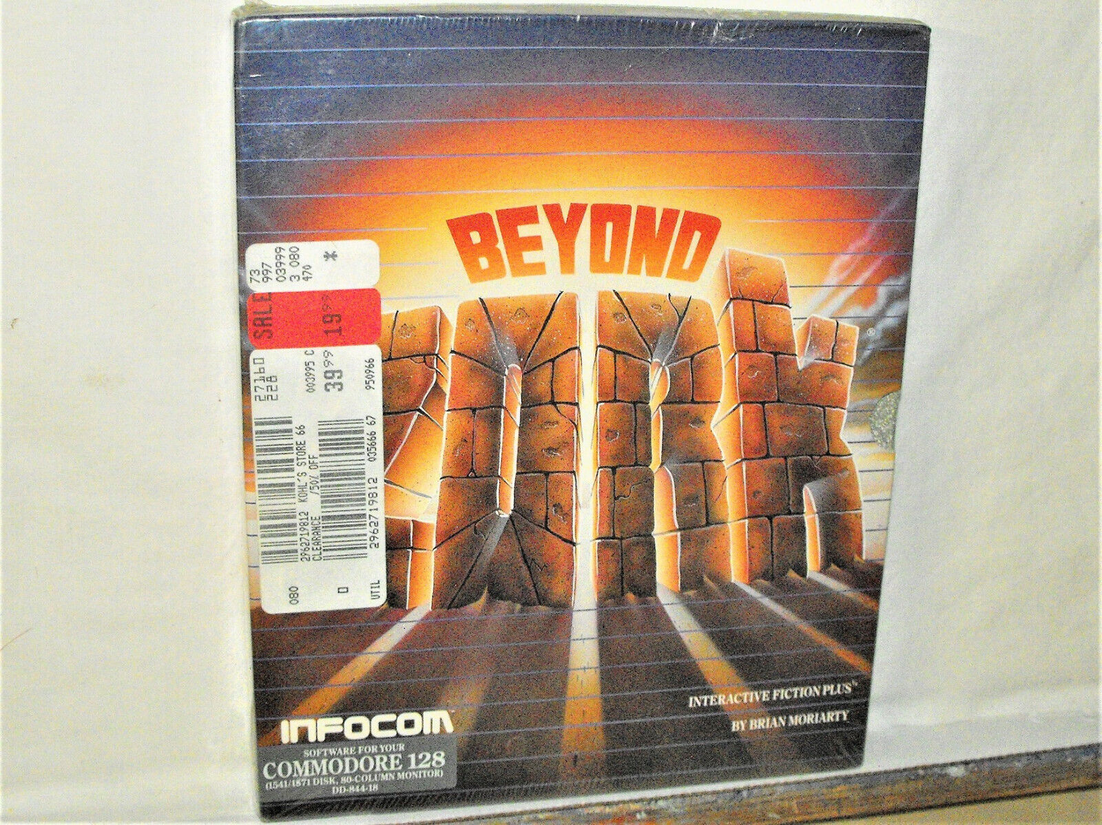 Computer Games - Commodore 64/128 PC Computer Game BEYOND ZORK Infocom Software Disk Sealed Box